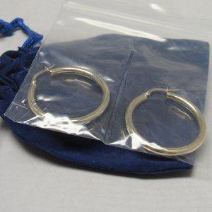 Jewelry - 14k Yellow Gold Italian Hoop Earrings